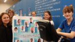 Les cinq étudiantes lancent la journée sportive à l'Orange Bleue, pour soutenir la recherche contre le cancer