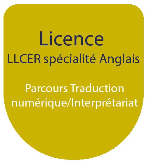 Licence LLCE spécialité Anglais : Parcours Traduction numérique/Interprétariat