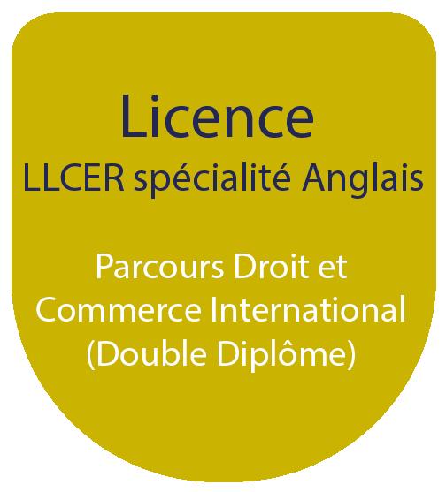 Licence LLCE spécialité Anglais : Parcours Droit et Commerce Internationales (Double Diplôme)