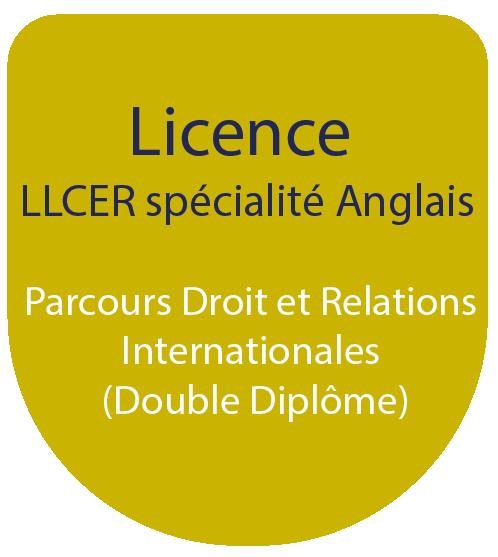 Licence LLCE spécialité Anglais : Parcours Droit et Relations Internationales (Double Diplôme)